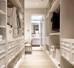 Walk thru closet