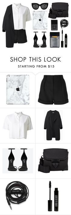 """""""Not a fan of colors"""" by baludna ❤ liked on Polyvore featuring IRO, T By Alexander Wang, BLACK CRANE, Yves Saint Laurent, Alexander Wang, Urbanears and Lord & Berry"""