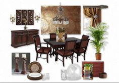 West Indies Dining room Inspiration Board