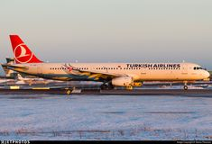 Lining up runway 22R for departure to Istanbul as Turkish 5DM.. TC-JRV. Airbus A321-231. JetPhotos.com is the biggest database of aviation photographs with over 3 million screened photos online!