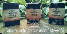 Jabón exfoliante de chocolate-café -Blend & Wear- Chocolate Cafe, Shampoo, Personal Care, Bottle, Glycerin Soap, Soaps, Self Care, Personal Hygiene, Flask