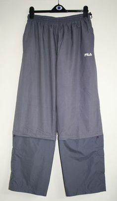 Vintage Style Fils Mens Trouses Size L Sportswear Fashion Designer 100% Polyeste