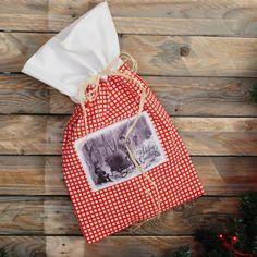 Świąteczny worek z tkaniny w La maison cottage na DaWanda.com