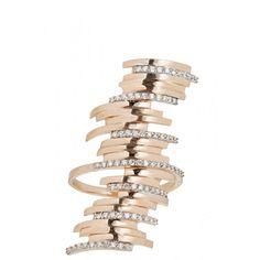 Beat Long Diamond Embellished Ring