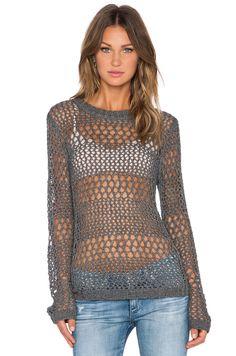 LA Made Jackie Sweater en Steel | REVOLVE