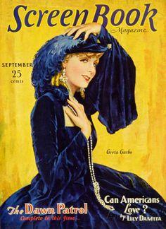 Greta Garbo - Screen Book Magazine Cover 1930's Masterprint