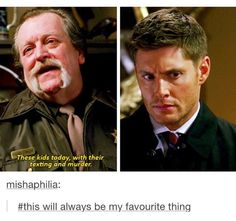 That's about accurate. Dean's face, though.