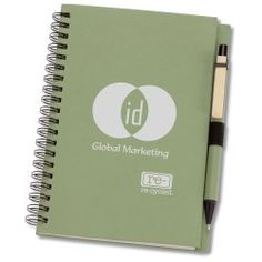 Eco Design Recycled Notebook w/Pen