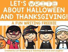 Halloween and Thanksgiving Writing Freebie