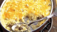 The South pairs favorites--sausage and grits--in this cheesy casserole.