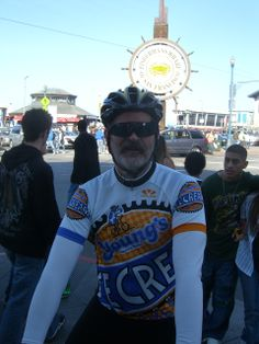 Rik Crouch in his Young's Dairy bike jersey
