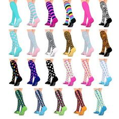 9a3c7f83a4 Go2 Fashion Compression Socks for Men & Women 15-20 mmHg Athletic Running  Socks for