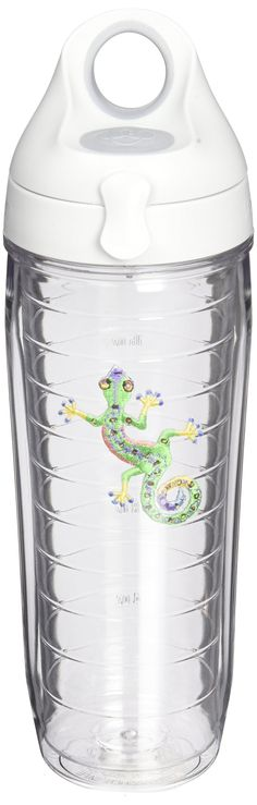 Tervis Water Bottle Green Gecko Keeps Hot Drinks And Cold