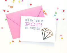 foil stamp bridal card: will you be my bridesmaid, flower girl, maid of honor - pop the question to your girls