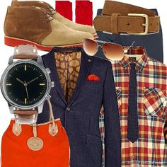 It's Orange! | Men's Outfit | ASOS Fashion Finder (made by me)