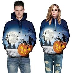 10a7139b1902 BOLUOYI Blouses for Women Fashion Petite Sweatshirts,Men Mode Print Long  Sleeve Halloween Couples Hoodies Top Blouse Best Halloween Costumes &  Dresses USA