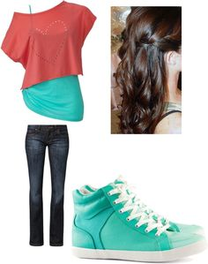 """first day of school outfit"" by njacks ❤ Middle School Fashion, Middle School Outfits, First Day Of School Outfit, Cute Summer Outfits, Outfits For Teens, Pretty Outfits, Cool Outfits, Casual Outfits, Katies Fashion"