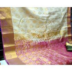 Abhirami Bridal Brocade Pattu Silk Saree in Off-white and pink for engagements and weddings. Book now 91 9821054556 Sri Padmavathi Silks, the only South Indian store in Dombivli, India. Kancheepuram Silk Sarees in Mumbai. International shipping available. Wholesale orders accepted. #Kanchipuram  #kanjivaram  #Kancheepuram  #bride  #brides  #bridal  #indianwedding  #engagement  #familyfunction  #indianbridalwear  #indianbride  #beautiful  #fashion  #love  #buyonline  #sareesonline…