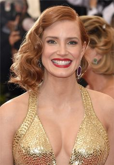 Jessica Chastain - Met Gala 2015 Hair and Make Up