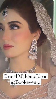 Bridal Makeup Videos, Bridal Makeup Images, Bridal Eye Makeup, Bridal Makeup Looks, Indian Bridal Makeup, Bride Makeup, Wedding Makeup, Pakistani Bridal Makeup Hairstyles, Pakistani Wedding Outfits