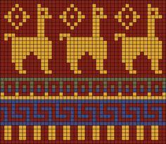 무료패턴) 40+ 모칠라백에 동물을 넣어보자 / 봄이 오고있다!!! / 라마, 코끼리, 닭, 강아지, 다람쥐 고래 등등 : 네이버 블로그 Fair Isle Chart, Fair Isle Pattern, Intarsia Patterns, Bead Loom Patterns, Knitting Charts, Knitting Patterns Free, Hand Knitting, Free Pattern, Modern Cross Stitch Patterns