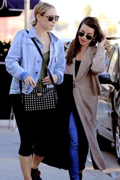 Becca Tobin and Lea Michele out and about shopping in West Hollywood, CA  - November 11, 2016 (Photo by AKM-GSI)