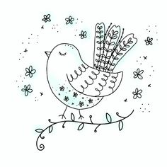 Doodle art 850265604637895703 - Time lapse of a bird doodle Source by Bird Doodle, Doodle Art, Fruit Doodle, Doodle Coloring, Coloring Pages, Embroidery Patterns, Hand Embroidery, Tangle Patterns, Canvas Art