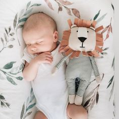 Carson The Lion From Birth Soft Toy by Banks-Lyon Botanical, the perfect gift for Explore more unique gifts in our curated marketplace. Handmade Baby, Handmade Toys, Sleeping Lion, Lion Toys, Diy Bebe, Baby Swaddle, Baby Newborn, Fabric Toys, Sensory Toys