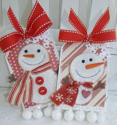 Whimsy Snowman Snowflake Christmas by PaperBistro
