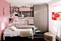 12 Ideias perfeitas para aproveitar melhor o espaço de quartos pequenos.