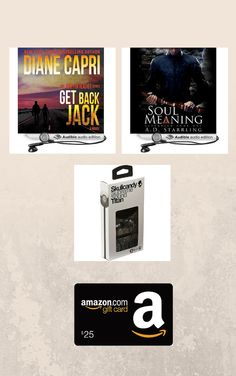 Audiobooks + $25 Amazon gift card + Skullcandy earphones Super Package http://www.adstarrling.com/giveaways/audiobooks-super-giveaway/?lucky=1448 via @ADStarrling