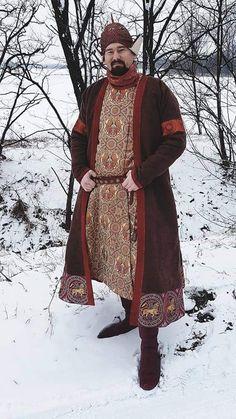 Historical Costume, Historical Clothing, Silk Kaftan, Fantasy Forest, Russian Folk, Larp, Vikings, Medieval, Costumes