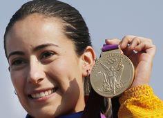 Mariana Pajón, medalla de oro en BMX.