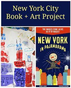 "Awesome ""magic"" interactive picture book: New York in Pajamarama, plus a  Cityscape Sponge Art project"