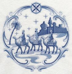 Delft Blue Nativity Three Kings