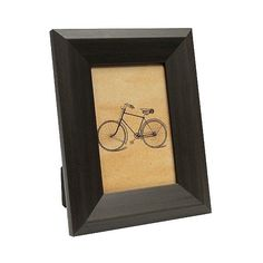 """x6\"" Black Wood Tone Frame ($8) ❤ liked on Polyvore featuring home, home decor, frames, black, black picture frames, colored frames, black home decor, colored picture frames and 4x6 frames"