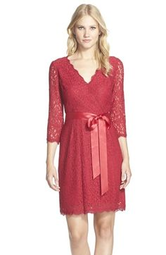 Adrianna Papell Wrap Lace Dress available at #Nordstrom