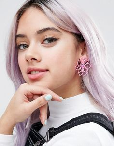 Get this Asos's earring now! Click for more details. Worldwide shipping. Limited Edition 3D Flower Stud Earrings - Pink: Earrings by ASOS Collection, Matte finish, 3D-stud design, Butterfly back, 100% Metal. Score a wardrobe win no matter the dress code with our ASOS Collection own-label collection. From polished prom to the after party, our London-based design team scour the globe to nail your new-season fashion goals with need-right-now dresses, outerwear, shoes and denim in the coolest…