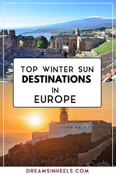 Searching for the best winter sun in Europe? If you do not think you can wait for the sun to melt the snow and the warm weather to start to enjoy some – My World Europe Destinations, Winter Sun Destinations, Europe Travel Guide, Amazing Destinations, Travel Guides, Travelling Europe, Travel Abroad, Traveling, Outfits Spring