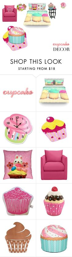 """*LATE* cupcake decor"" by leeloowheeler ❤ liked on Polyvore featuring interior, interiors, interior design, home, home decor, interior decorating, Kess InHouse, Trend Lab, Artgoodies and Dot & Bo"