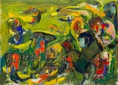 Green Ballet, 1960, oil on canvas, Dutch, Asger Jorn