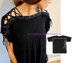 11wonderful Ideas to Refashion shirt into Chic Top7