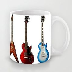 Mugs For The Music Lover Gibson Electric Guitar Bass Guitar Coffee Mugs