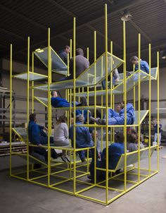 BuzziJungle- new and award-winning Buzzispace jungle gym lounge furniture http://buzzi.space/buzzijungle/