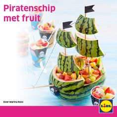 Piratenschip met fruit #traktatie #backtoschool #Lidl