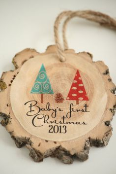 Baby's First Christmas 2013  Daddy and Mommy Tree by LittleWeeShop