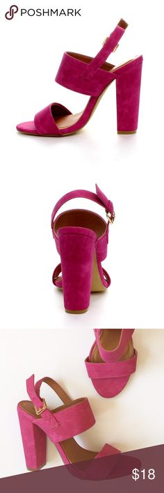 🆕 X2B Fuchsia Sandals New! Fuchsia sandals by X2B...an angular heel lends a chic touch to these warm-weather stunners, while their slingback design offers a classic touch to the mix...4.5'' heel...buckle closure...man-made. Brand new, never worn...original box not included. Size 7.5. Retail $47 X2B Shoes Heels