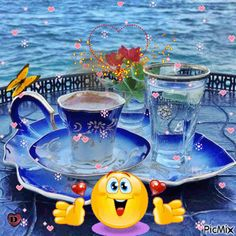 Good Afternoon sister,have a relaxing time xxx ❤❤❤ Turkish Coffee Cups, Coffee Cup Set, I Love Coffee, Coffee Cafe, Coffee Break, Best Coffee, Good Morning Coffee, Good Afternoon, Belle Photo