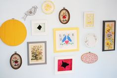 nursery collage wall