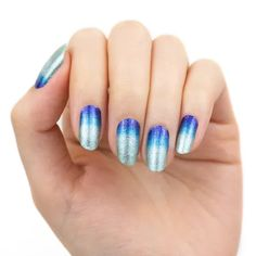 Color Street Nail Polish Strips Will Add Pixie Dust To Your Nails Blue And Silver Nails, Blue Glitter, Disney Inspired Nails, Silver Nail Designs, Purple Manicure, Sea Colour, Manicure At Home, Nail Polish Strips, Color Street Nails